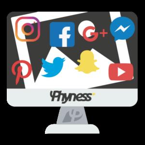 Services phyness images reseaux sociaux