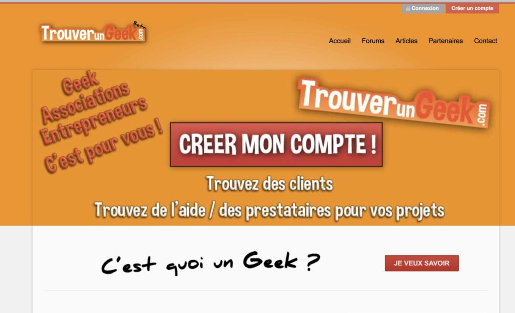trouverungeek phyness creation site internet