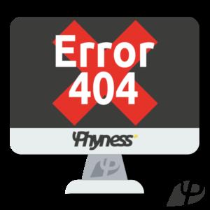 image à la une phyness error 404